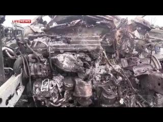 ВСУ обстреляли Петровский мост в Донецке из системы «Ураган» 09.02.2015